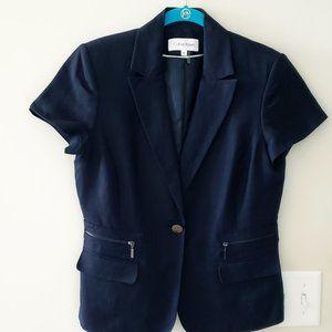 Single Breasted Calvin Klein Short Sleeve Blazer